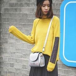 Polaris - Color Block High Neck Sweater