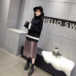 RUI - Oversized Color Block Sweater