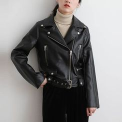ELLY - Faux Leather Jacket