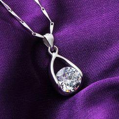 Ringa - 925 Sterling Silver Crystal Pendant