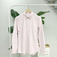 CooLook - 細直條紋長袖襯衫