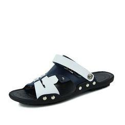 EnllerviiD - Genuine-Leather Slide Sandals