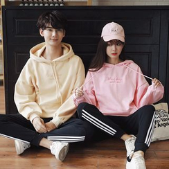 Je T'aime - Couple Matching Letter Embroidered Hoodie