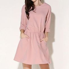 Isadora - Elbow Sleeve Band Waist Dress