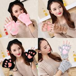 CHOIX - Fleece Cat Paw Mittens