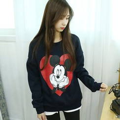 Dodostyle - Mickey Mouse Printed Sweatshirt