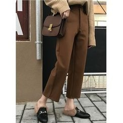 MATO - Plain Cropped Woolen Pants
