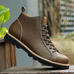 Shino - Genuine-Leather Lace-Up Chukka Boots