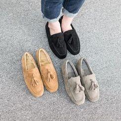 VIVIER - Tassel-Detail Faux-Suede Loafers
