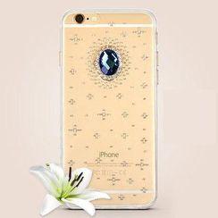 Kindtoy - Rhinestone Silicone Case - iPhone 6S / 6S Plus