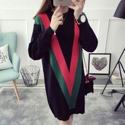 TIMI - Color Block Sweater Dress