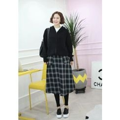 Lemite - Hooded Zip-Up Knit Jacket