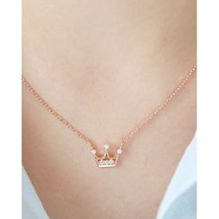 Miss21 Korea - Crown-Pendant Chain Necklace