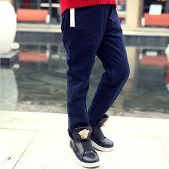 Famula - Fleece-Lined Straight Leg Pants
