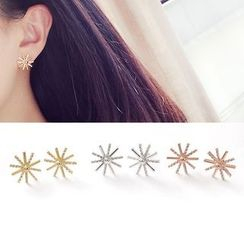 Clair Fashion - Sun Rhinestone Earrings