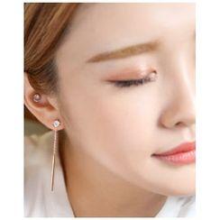 Miss21 Korea - Bar Drop Earrings