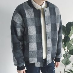 ZZP HOMME - Check Baseball Jacket