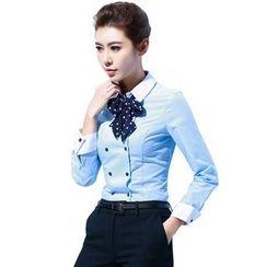 艾尚臣 - 長袖雙排扣襯衫