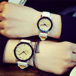 Tacka Watches - Faux Leather Strap Watch
