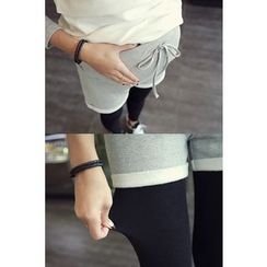 Momnuri - Maternity Inset Sweat Shorts Leggings