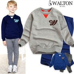 WALTON kids - Boys Set: Lettering Sweatshirt + Band-Waist Pants