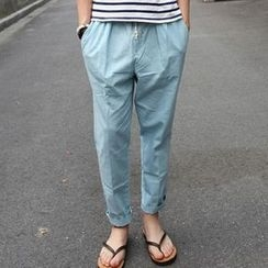 MR.PARK - Drawstring Tapered Pants