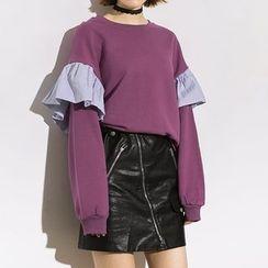 Heynew - Frill Trim Sweatshirt