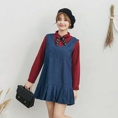 Tokyo Fashion - Sleeveless Frilled Denim Dress