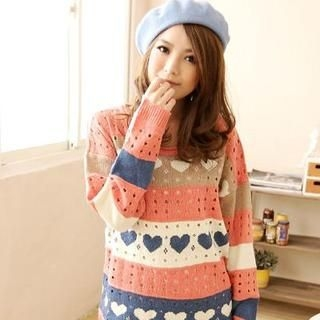 YUMI - Nordic-Pattern Knit Sweater