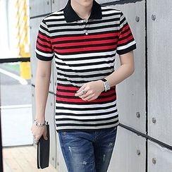 Evzen - Striped Polo Shirt