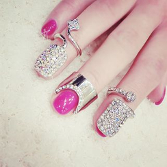 嘀咕家 - 水钻指甲戒指