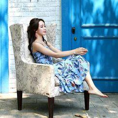 Seoul Fashion - Sleeveless Printed Long Sundress