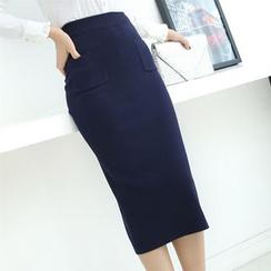 Hyoty - Midi Knit Skirt