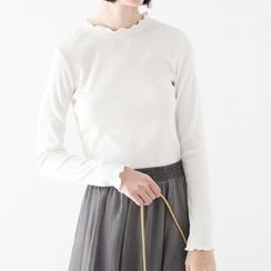 Meimei - Plain Long-Sleeve T-Shirt