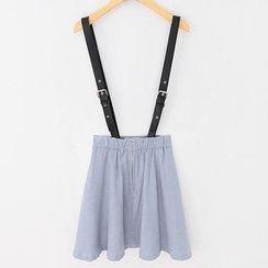 JVL - Suspender A-Line Skirt