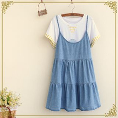 Fairyland - Denim Jumper Dress