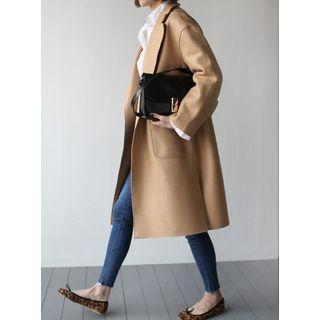 STYLEBYYAM - Wool Blend Open-Front Coat