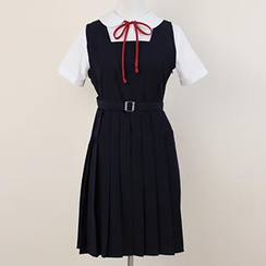 Skool - Pleated Jumper Dress