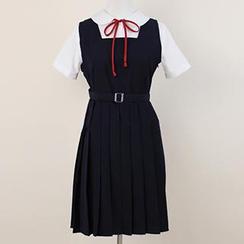 Skool - 打褶裥连衣长裙