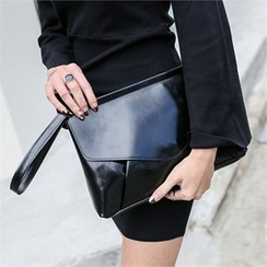 JVLLY - Flap Faux-Leather Clutch