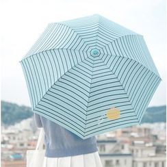 Fun House - 水果印花条纹折叠雨伞