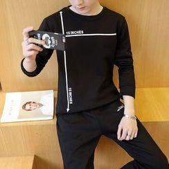 Kashen - Set: Lettering Sweatshirt + Sweatpants