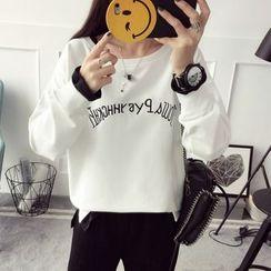 Qimi - Lettering Long-Sleeve T-Shirt