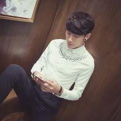 Simsam - Embroidered Long-Sleeve Shirt