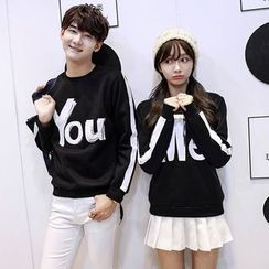 CASSY - Lettering Couple Matching Pullover