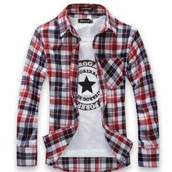 Alvicio - Plaid Print Shirt