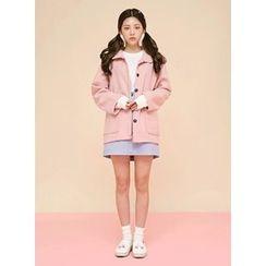 icecream12 - Single-Breasted Wool Blend Jacket