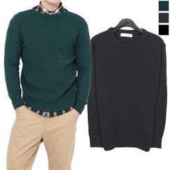 Seoul Homme - Round-Neck Knit Top