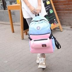 Donini Bags - Color-Block Canvas Backpack