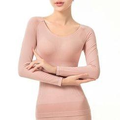 Kamuka - Long-Sleeve Shaping T-Shirt